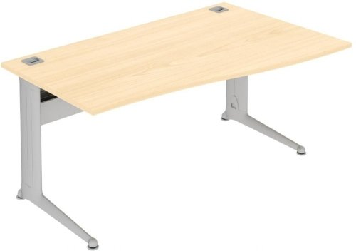 Elite Kassini Single Wave Desk 1600 x 800-600mm MFC Finish