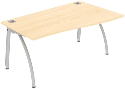 Elite Callisto Single Wave Desk - W1800 x D800-600 x H740mm