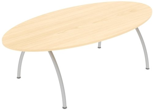 Elite Callisto Oval Meeting Table 2400 x 1200 x 740mm
