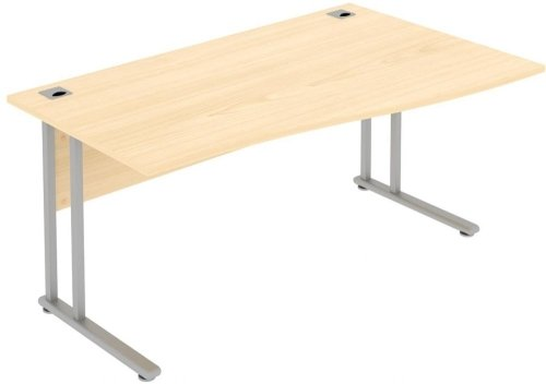 Elite Flexi Single Wave Desk 1200 x 1000-800mm