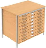 Elite Norton A1 Plan 8 Drawer Chest MFC Finish