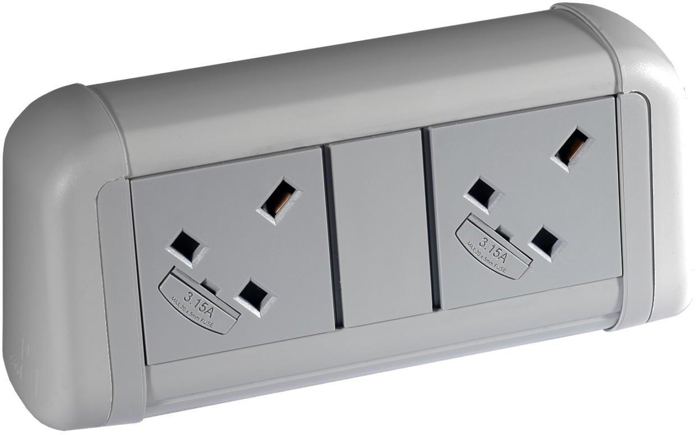 Elite Flex 2 Gang Desk Top Power Module Black