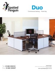 Duo Commercial Desking Panel Leg