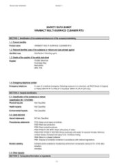 Virabact Multi-surface Cleaner Safety Data Sheet
