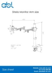 Strela Monitor Arm Size