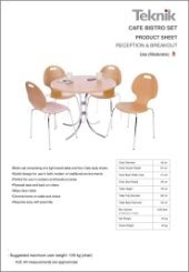 Cafe Bistro Product Sheet
