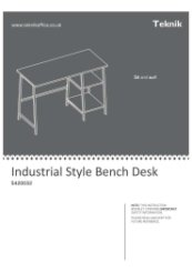 Bench Assembly Instructions