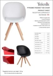 Pyramid Padded Tub Chair Specification