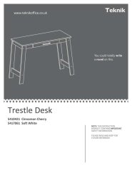 Trestle Desk Specifications