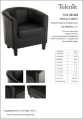 Tub Chair Specification