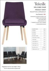 Welcome Reception Chair Specification