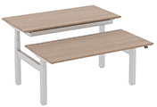 Elite Progress Plus Height Adjustable Electric Double Bench Desk - (w) 1200mm x (d) 1600mm