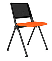 Elite Salto Mesh Back 4 Legged Chair with Upholstered Seat