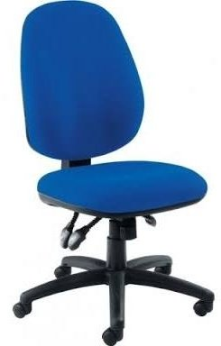 Concept High Back Operator Chair With 1D Height Adjustable Arms - Chrome Base