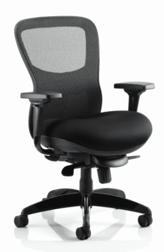 Gentoo Stealth Shadow Ergo Posture Airmesh Seat and Mesh Back Chair with Arms