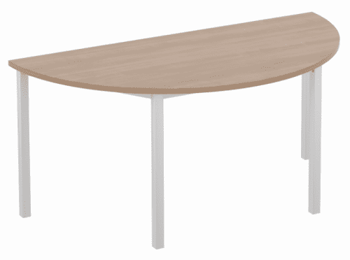 Elite Semi Circular Training Table with Square Legs MFC Finish