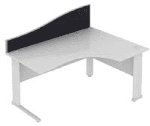 Elite Desk Mounted Wave System Fabric Screen - Width 773mm