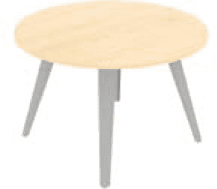 Elite Reflex Circular Meeting Table 1400 x 740mm