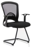 Gentoo Zion Black Mesh Cantilever Chair